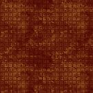 Grungy Red and Gold Floral Pattern by pjwuebker