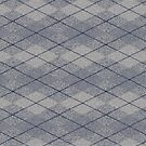 Gray and Blue Argyle by pjwuebker