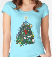 Link's Real Inventory (Christmas Edition) Women's Fitted Scoop T-Shirt