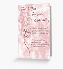 Funeral greeting cards redbubble thank you for your sympathy pink sketched flowers with sentiment words greeting card m4hsunfo