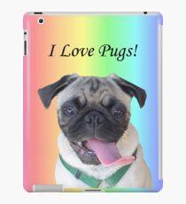 Cute I Love Pugs iPhone, iPod or iPad Case iPad Case/Skin