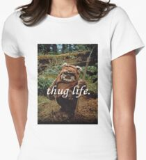 Ewok Thug Life Women's Fitted T-Shirt
