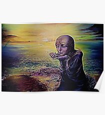 Moon Child on an Alien Planet Poster