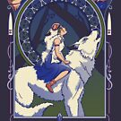 Wolf Princess Nouveau by Stephanie Greenwood