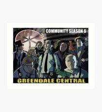 Greendale Central Art Print