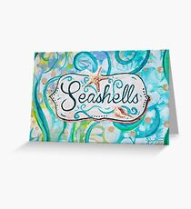 Seashells III by Jan Marvin Greeting Card