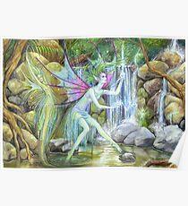 'Waterfall Feys' by Jo Morgan Poster