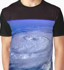 Hurricane picture of earth from space.  Graphic T-Shirt