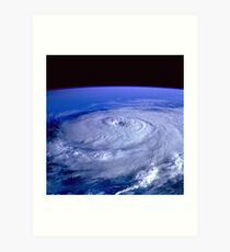 Hurricane picture of earth from space.  Art Print