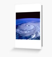 Hurricane picture of earth from space.  Greeting Card