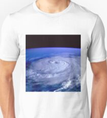 Hurricane picture of earth from space.  T-Shirt
