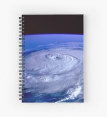 Hurricane picture of earth from space.  Spiral Notebook