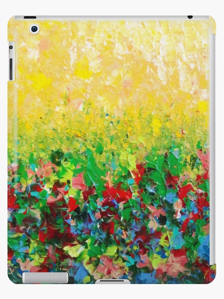 NATURE'S LIVING ROOM - Gorgeous Bright Bold Nature Wildflower Field Landscape Abstract Art  by EbiEmporium