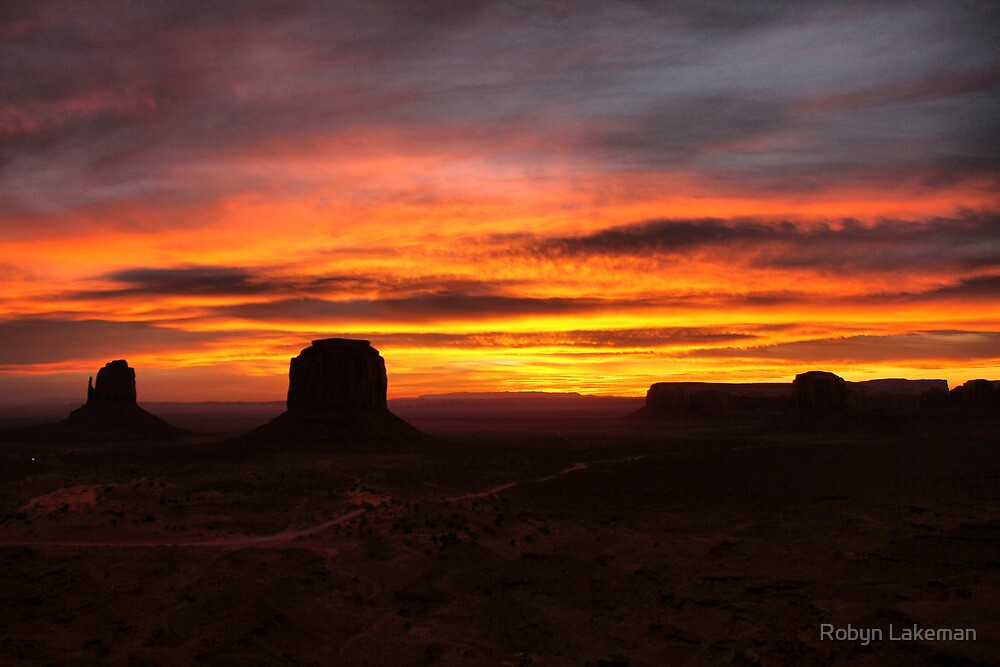 Monument Valley sunrise by Robyn Lakeman
