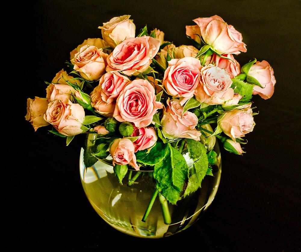 Roses In A Bowl by Mick Kupresanin