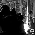 Buddha and the little girl. by geof