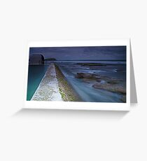 The Pumphouse Corner, Merewether Ocean Baths Greeting Card