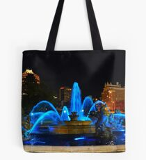 J. C. Nichols Fountain in Blue, Kansas City Tote Bag