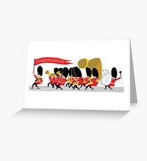 Coldstream Guards marching band Greeting Card
