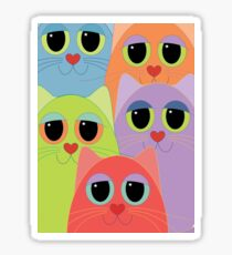CAT FACES FIVE Sticker