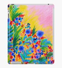 NATURAL ROMANCE in PINK - October Floral Garden Sweet Feminine Colorful Rainbow Flowers Painting iPad Case/Skin