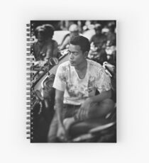 Faces of Kuta #03 ... Deep in thought Spiral Notebook