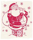 Father Christmas stuck in chimney by drawgood