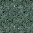 Chiseled Gray Green Rock by pjwuebker