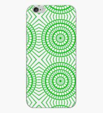 Bright Green Tile Circles iPhone Case