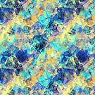 Blue and Yellow Tissue Paper by pjwuebker