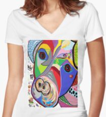 Pretty Pitty Women's Fitted V-Neck T-Shirt