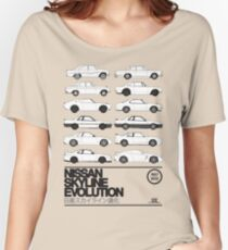 Camiseta ancha para mujer Historia de Nissan Skyline