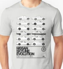 Camiseta unisex Historia de Nissan Skyline