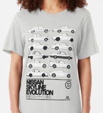 Nissan Skyline History Slim Fit T-Shirt