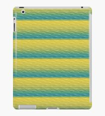 Yellow and Blue Sand Dunes Abstract iPad Case/Skin