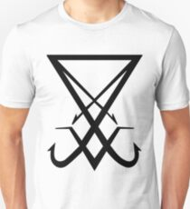 THE SIGIL OF LUCIFER - solid black Unisex T-Shirt