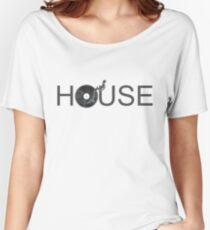 House Vinyl - Music Turntable DJ Women's Relaxed Fit T-Shirt