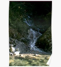 Rocky Waterfall Poster