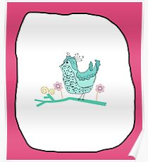 Birdy Pink Poster