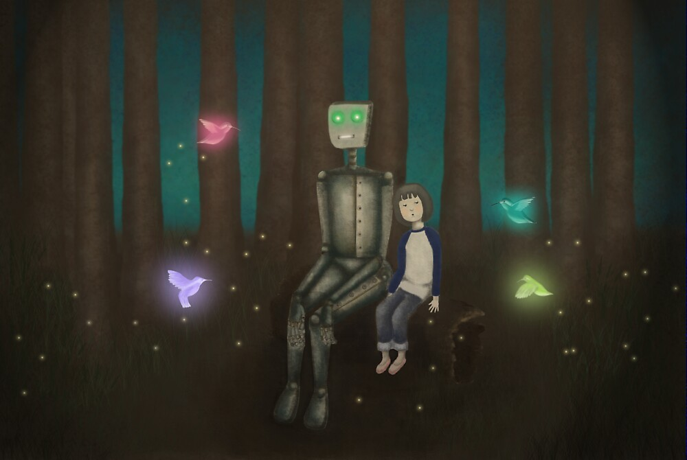 Robot and the Girl by sparklehen