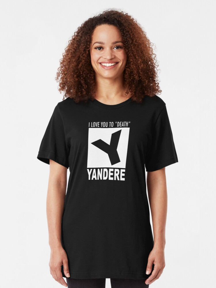 Alternate view of Yandere rating Slim Fit T-Shirt
