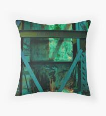 Steel and Rust Throw Pillow