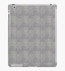 Grungy Gray Blue Circles iPad Case/Skin