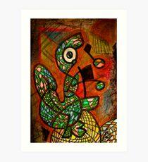 Frog on Pad Art Print