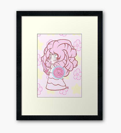 Weeny Gems- Rose Quartz Framed Print