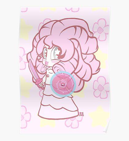 Weeny Gems- Rose Quartz Poster