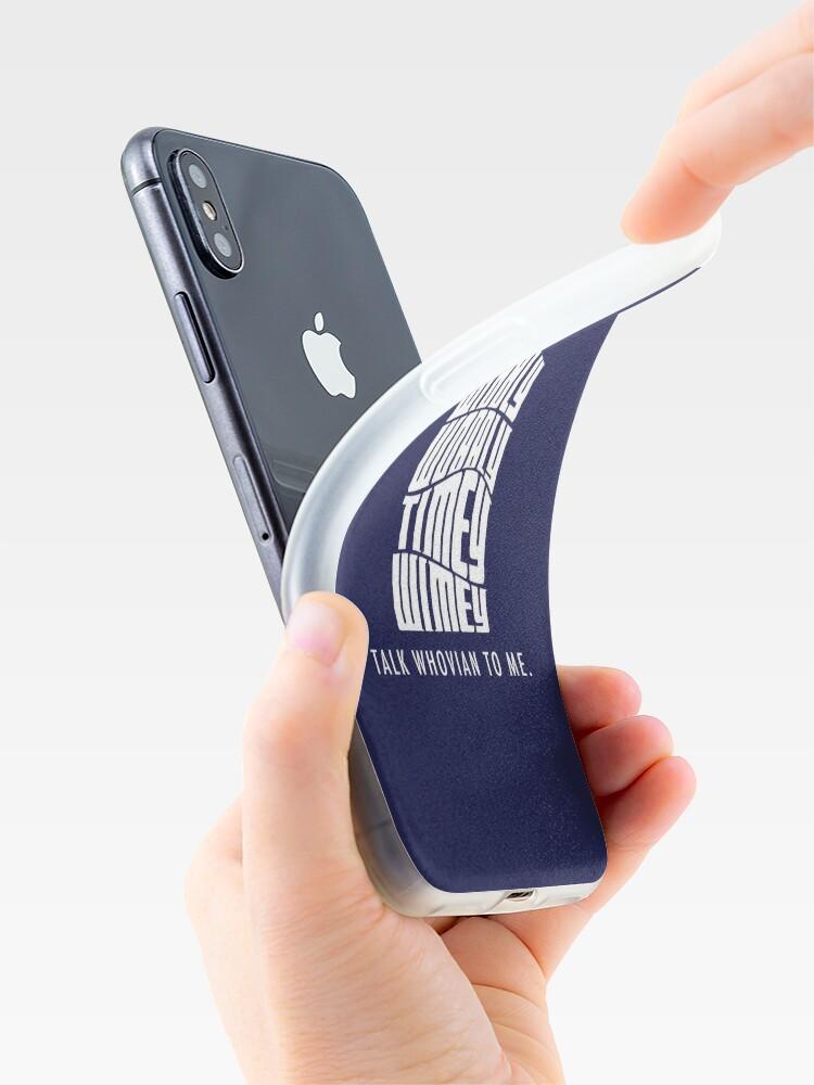 Alternative Ansicht von Talk Whovian To Me iPhone-Hüllen & Cover