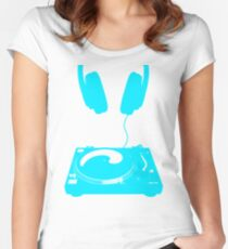 dj aqua Women's Fitted Scoop T-Shirt