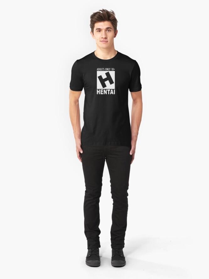 Alternate view of Hentai rating Slim Fit T-Shirt