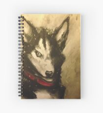 Husky in the snow Spiral Notebook